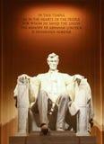Estátua do presidente Abraham Lincoln fotos de stock