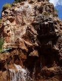 Estátua do projeto da cachoeira imagem de stock