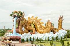 Estátua do protetor do dragão Fotos de Stock Royalty Free
