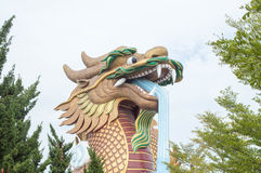 Estátua do protetor do dragão Fotografia de Stock Royalty Free