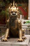 Estátua do Qilin mítico no palácio imperial, Pequim Imagens de Stock Royalty Free