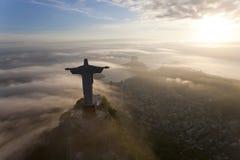 Estátua do redentor de Cristo, Corcovado, Rio de janeiro, foto de stock