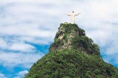 Estátua do redentor de Cristo no Rio Fotografia de Stock Royalty Free