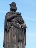 Estátua do rei foto de stock royalty free