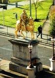 Estátua do rei Billy, Market Place, Kingston Upon Hull fotografia de stock royalty free
