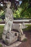 Estátua do rei Bladud no banho, Somerset, Inglaterra Imagem de Stock Royalty Free