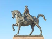 Estátua do rei Carol Eu em Bucareste, Romênia Imagens de Stock Royalty Free