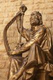 Estátua do rei David, Jerusalém, Israel fotografia de stock