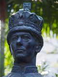 Estátua do rei George VI em Hong Kong Zoological e em jardins botânicos fotografia de stock