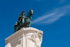 Estátua do rei Jose Eu em Lisboa, Portugal Fotografia de Stock Royalty Free