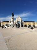 A estátua do rei Jozef Eu de Portugal, Terreiro faz Paco Lisbon Portgual Fotografia de Stock