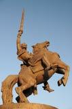 Estátua do rei Svatopluk na parte dianteira imagem de stock
