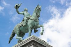 Estátua do rei Willem II Fotografia de Stock
