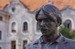 Estátua do retrato em Oradea imagens de stock royalty free