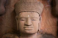Estátua do símbolo de buddha, feito areia do frome Foto de Stock Royalty Free