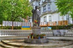 Estátua do santo padroeiro do St Volodymyr de Ucrânia perto Imagem de Stock Royalty Free