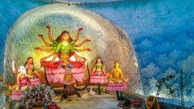 Estátua do senhor Durga fotos de stock