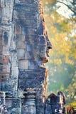 Estátua do templo de Bayon, Angkor, Siem Reap, Camboja Fotografia de Stock