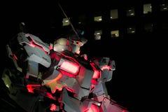 Estátua do unicórnio de Gundam em Odaiba Imagem de Stock