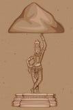 Estátua do vintage da escultura indiana de Saraswati da deusa Fotografia de Stock