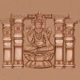 Estátua do vintage do indiano Lord Brahma Sculpture Fotos de Stock