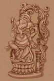 Estátua do vintage do indiano Lord Ganesha Sculpture Foto de Stock