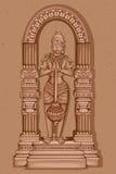 Estátua do vintage do indiano Lord Hanuman Sculpture Imagens de Stock