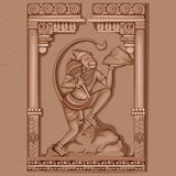Estátua do vintage do indiano Lord Hanuman Sculpture Fotos de Stock