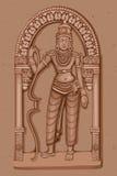 Estátua do vintage do indiano Lord Rama Sculpture Fotos de Stock