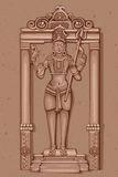 Estátua do vintage do indiano Lord Shiva Sculpture ilustração royalty free