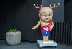 Estátua dos cervos dos desenhos animados em Nara Japan fotografia de stock royalty free