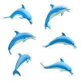 Estátua dos desenhos animados do golfinho Fotografia de Stock Royalty Free
