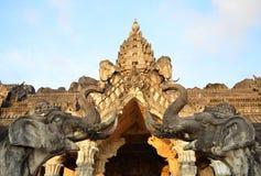 Estátua dos elefantes fotos de stock