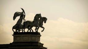 A estátua dos heróis esquadra em Budapest, Hungria Foto de Stock Royalty Free