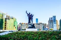 Estátua 02 dos mártir de Beirute fotografia de stock