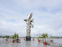 Estátua dos peixes vagabundos Sa na cidade de Chau Doc Foto de Stock Royalty Free