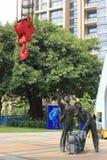 A estátua dos trabalhadores Imagens de Stock
