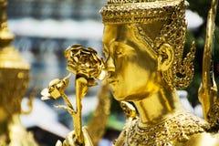 Estátua dourada Imagem de Stock