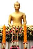 Estátua dourada da imagem da Buda Fotos de Stock Royalty Free