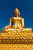 Estátua dourada de Baddha Imagem de Stock