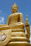 Estátua dourada de buddha Foto de Stock Royalty Free