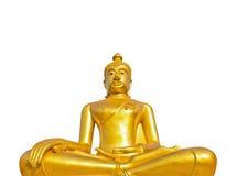 Estátua dourada de Buddha em um templo budista Imagens de Stock Royalty Free