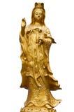 Estátua dourada de Guanyin Foto de Stock