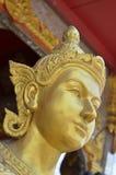 Estátua dourada de Kinnaree Foto de Stock