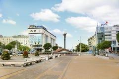 Estátua dourada de St Sófia em Sófia, Bulgária Foto de Stock