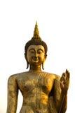 A estátua dourada gigante de Buddha fotografia de stock royalty free