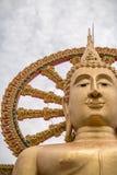 Estátua dourada grande de Buddha Fotografia de Stock