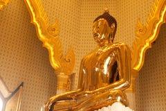 A estátua dourada a mais grande de buddha no templo de Trimit Foto de Stock