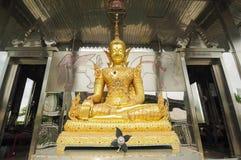 Estátua dourada no templo inoxidável Fotografia de Stock
