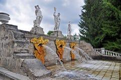 Estátua e fonte Imagem de Stock Royalty Free